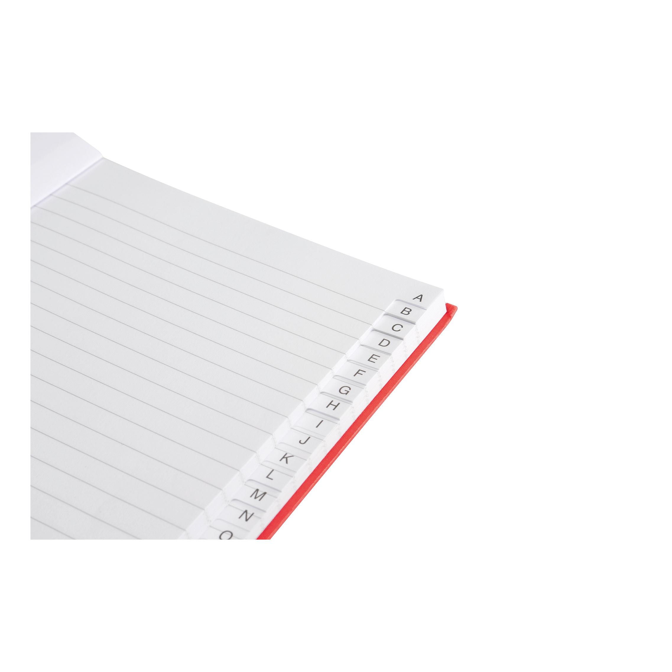 5 Star Office Manuscript Notebook Casebound 70gsm Ruled and Indexed 192pp A5 Red Pack 5