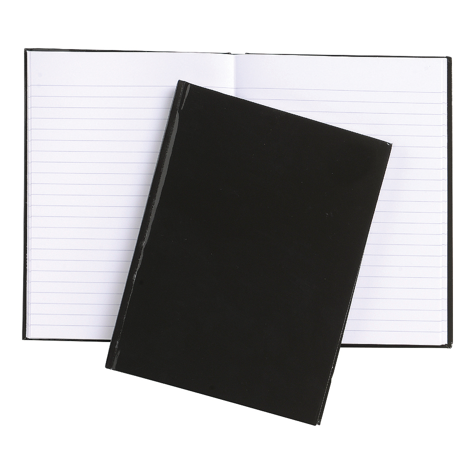 5 Star Office Notebook Casebound 70gsm Ruled 192pp A6 Black Pack 10