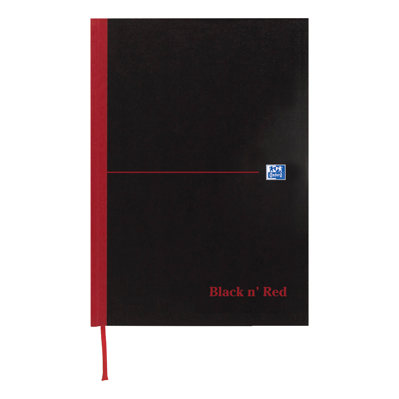 Black n Red Notebook Casebound 90gsm Ruled 192pp A6 Ref 100080429 Pack 5