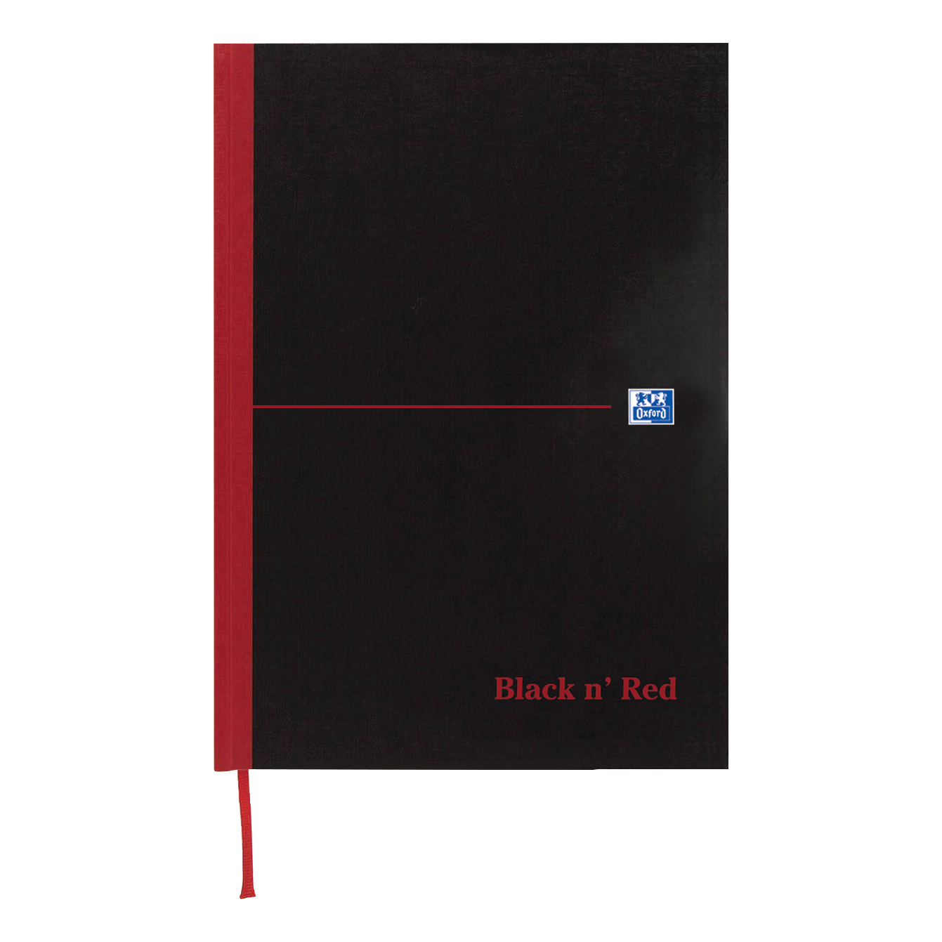 Black n Red Notebook Casebound 90gsm Ruled Indexed A-Z 192pp A6 Ref 100080431 [Pack 5]