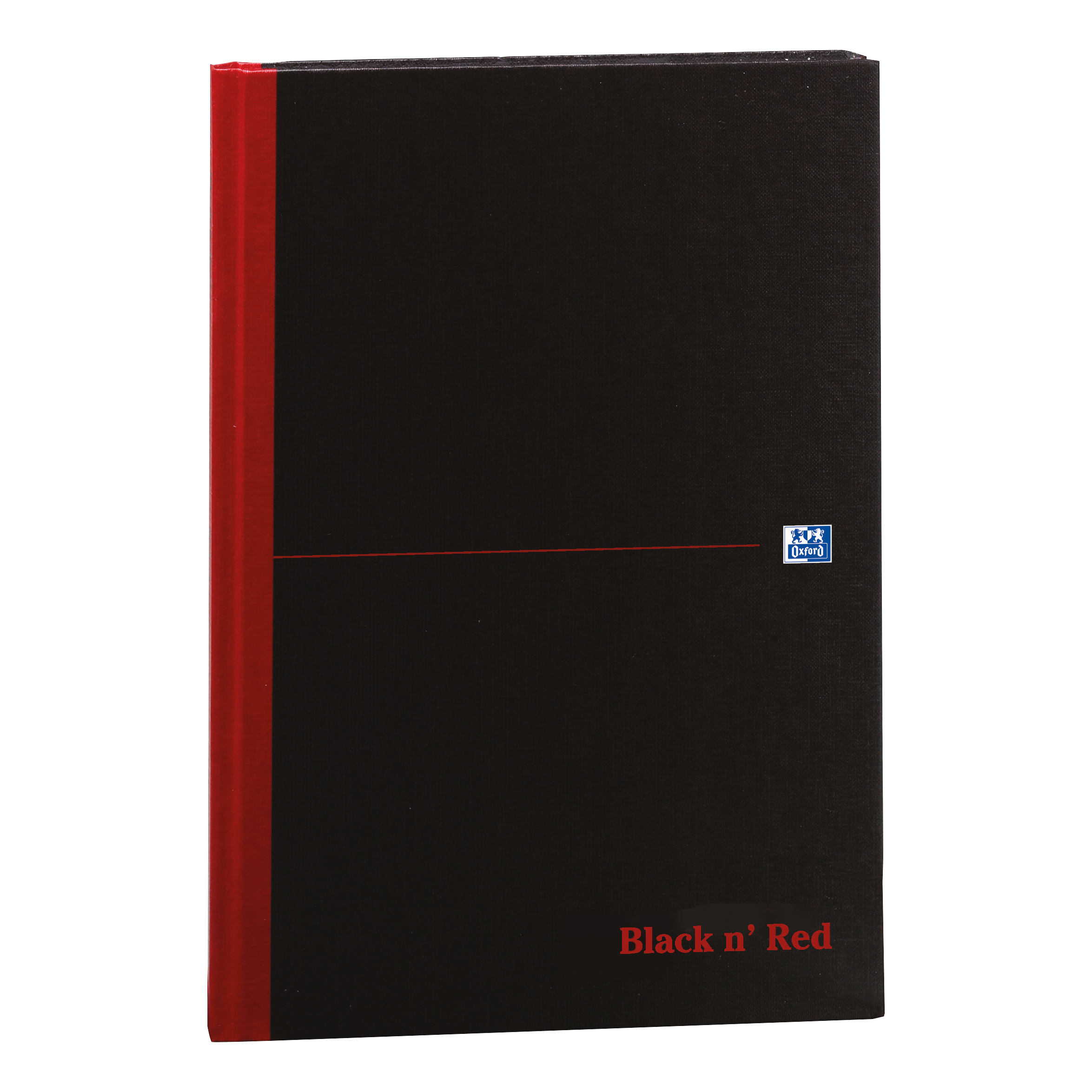 Black n Red Notebook Casebound 90gsm Ruled 192pp A4 Ref 100080446 [Pack 5]