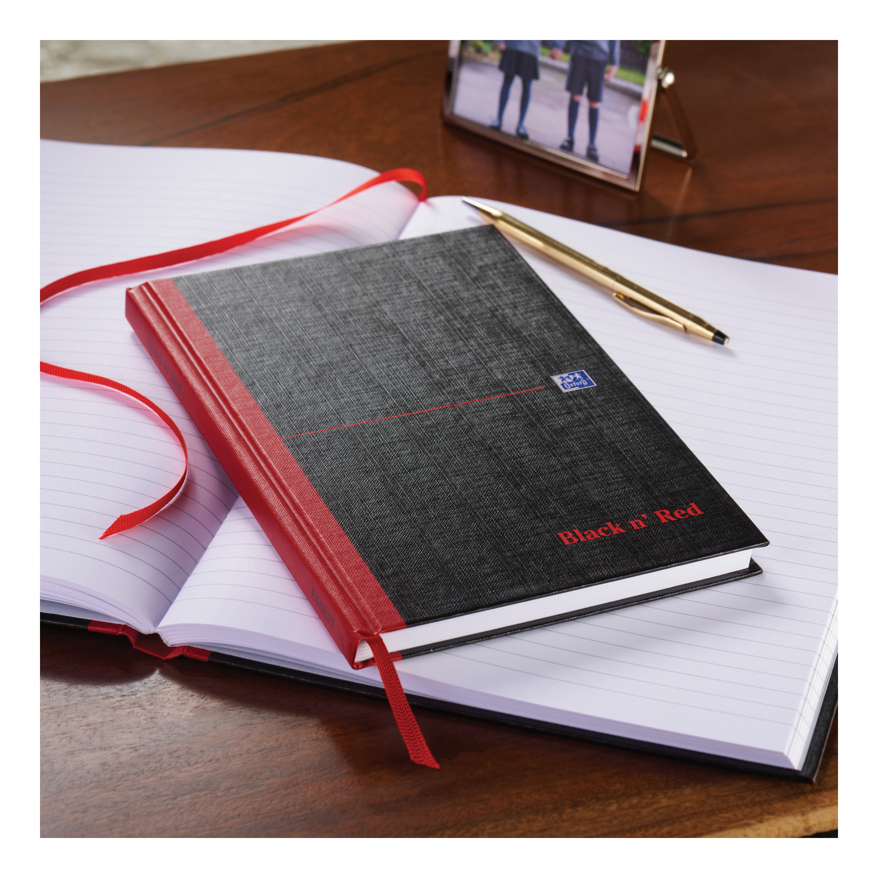 Black n Red Notebook Casebound 90gsm Ruled 192pp A4 Ref 400116295 [Pack 5]