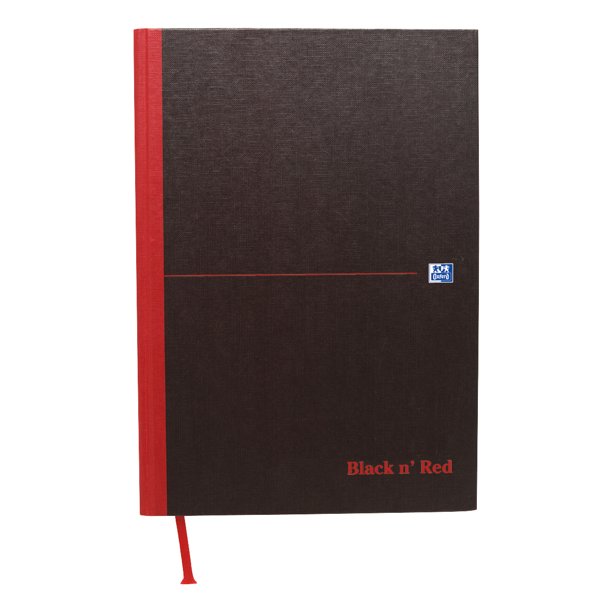 Black n Red Notebook Casebound 90gsm Narrow Ruled 192pp A4 Ref 100080474 [Pack 5]