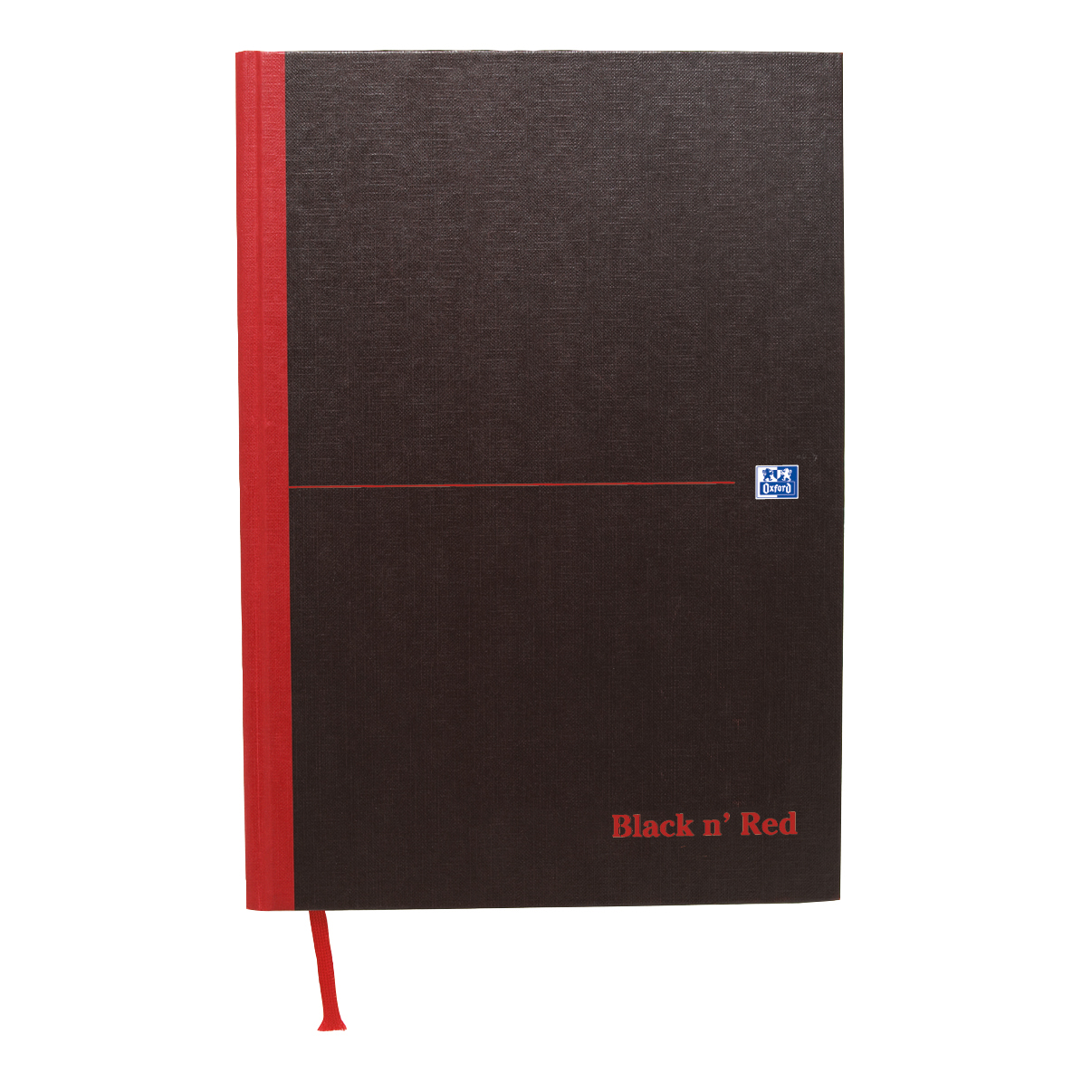 Notebooks Black n Red Notebook Casebound 90gsm Plain 192pg A4 Ref 100080489 Pack 5
