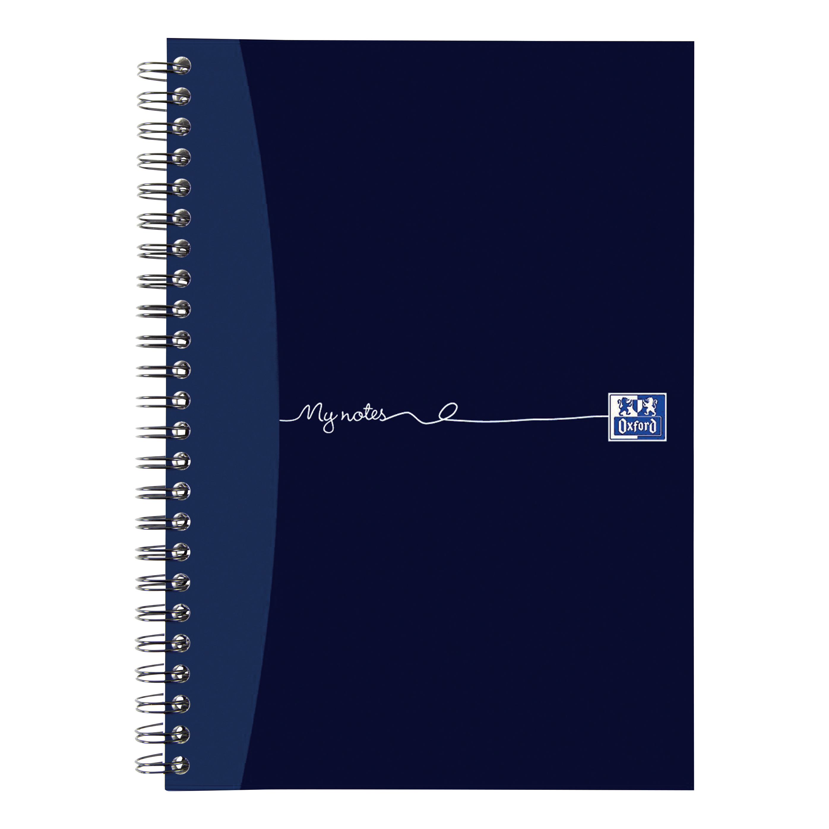 Oxford MyNotes Notebook Wirebound Punched 2 Holes 90gsm Ruled and Margin 160pp A5 Ref 100080200 [Pack 5]