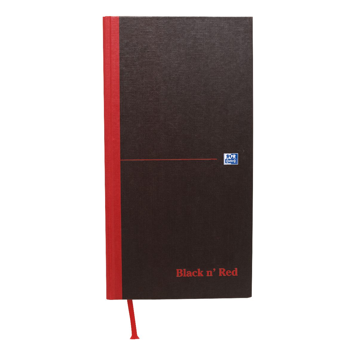 Black n Red Notebook Casebound 90gsm Ruled 192pp 140x297mm Ref 100080528 [Pack 5]