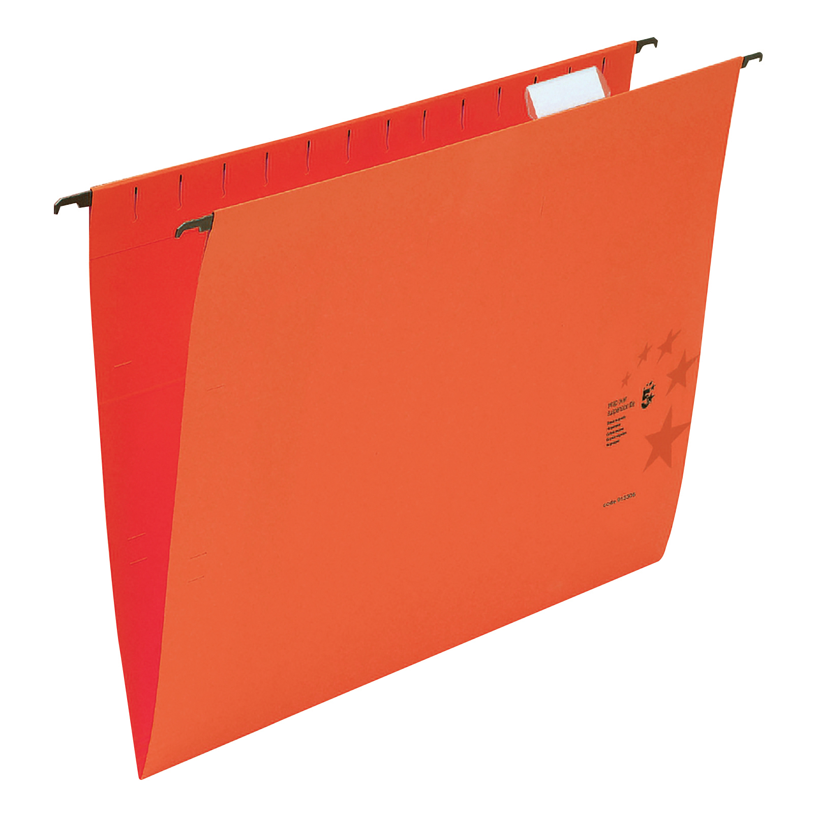 Suspension File 5 Star Office Suspension File with Tabs and Inserts Manilla 15mm V-base 230gsm Foolscap Red Pack 50