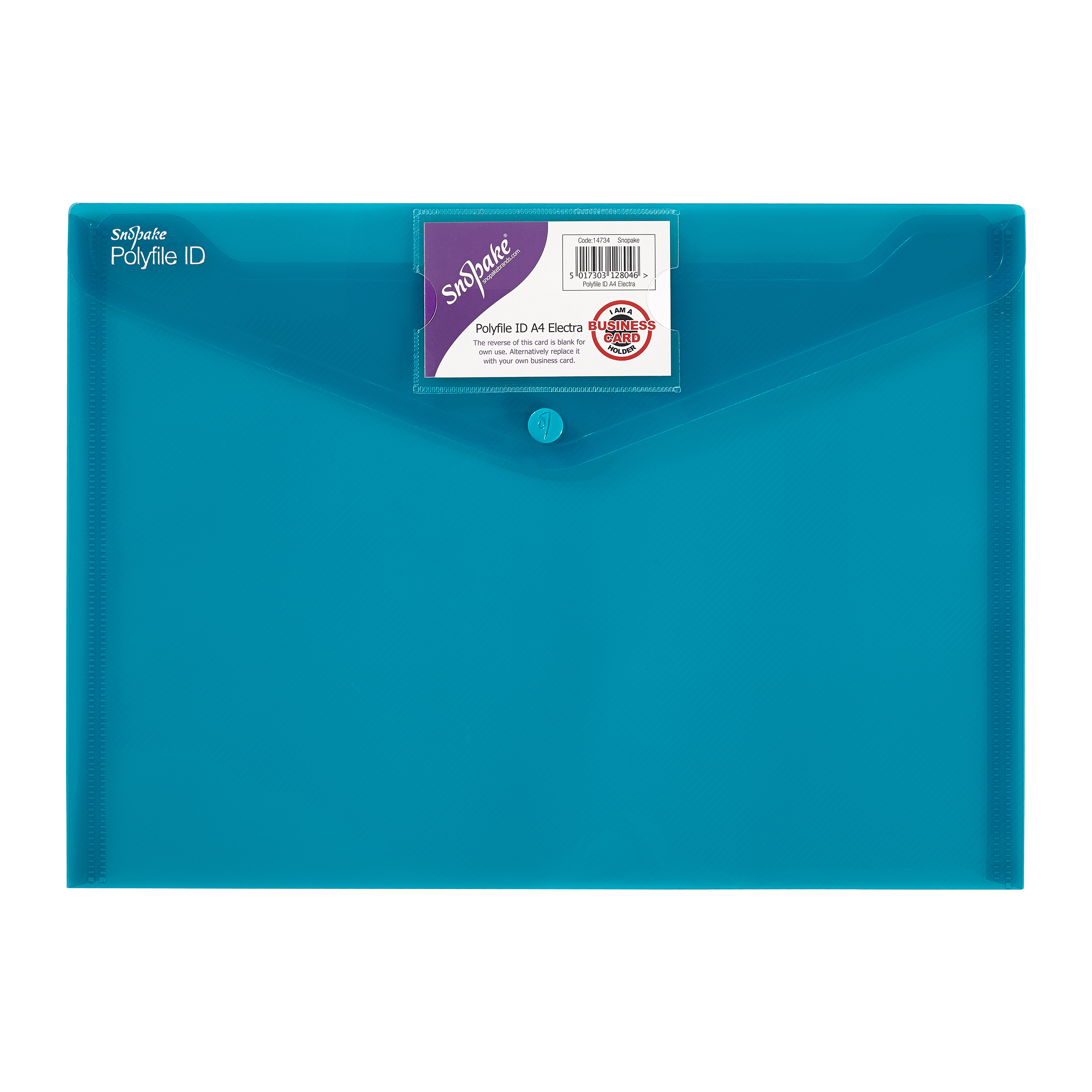 Snopake Polyfile ID Wallet File Polypropylene with Card Holder A4 Electra Assorted Ref 14734 Pack 5
