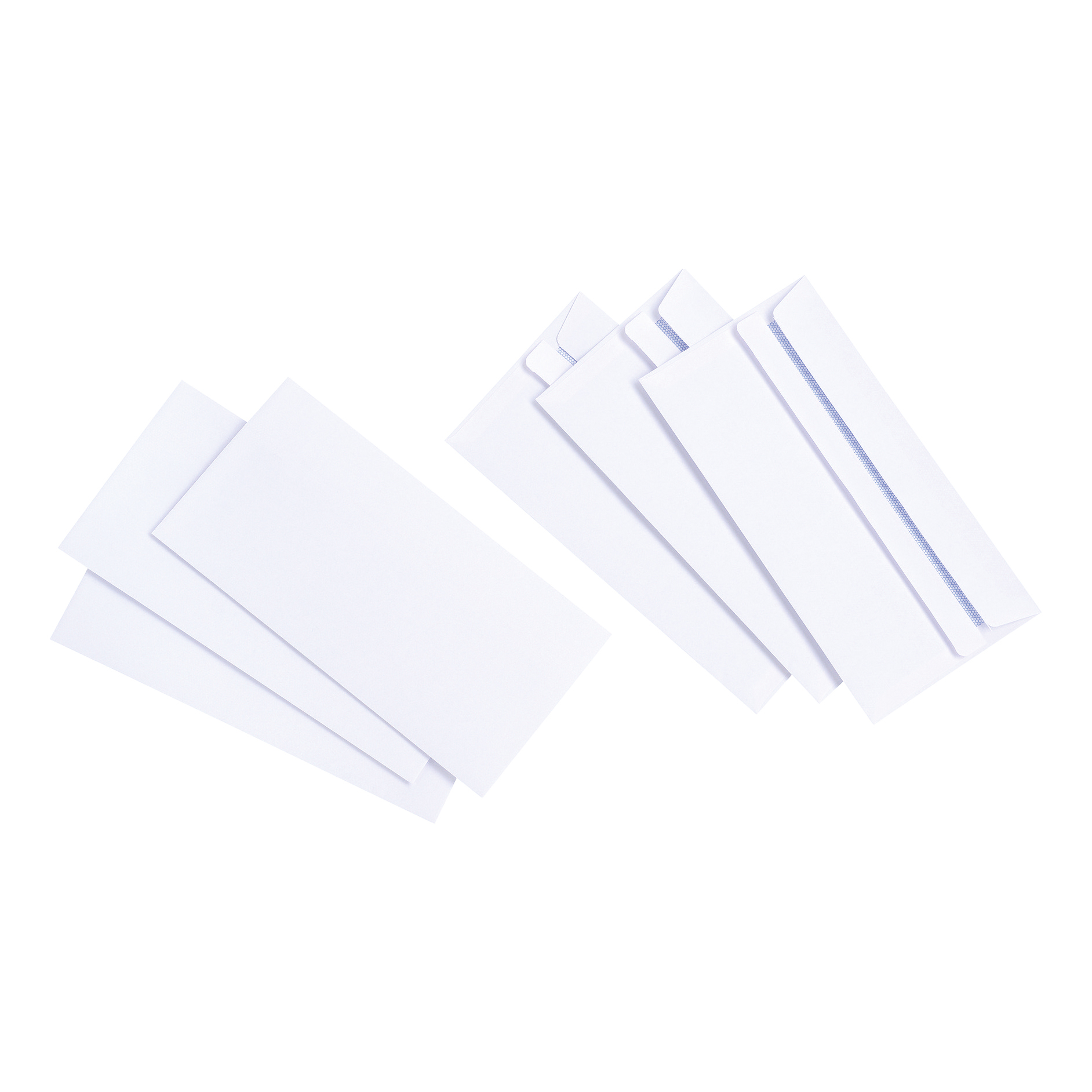DL 5 Star Value Envelopes DL Wallet Self Seal White 90gsm Pack 1000