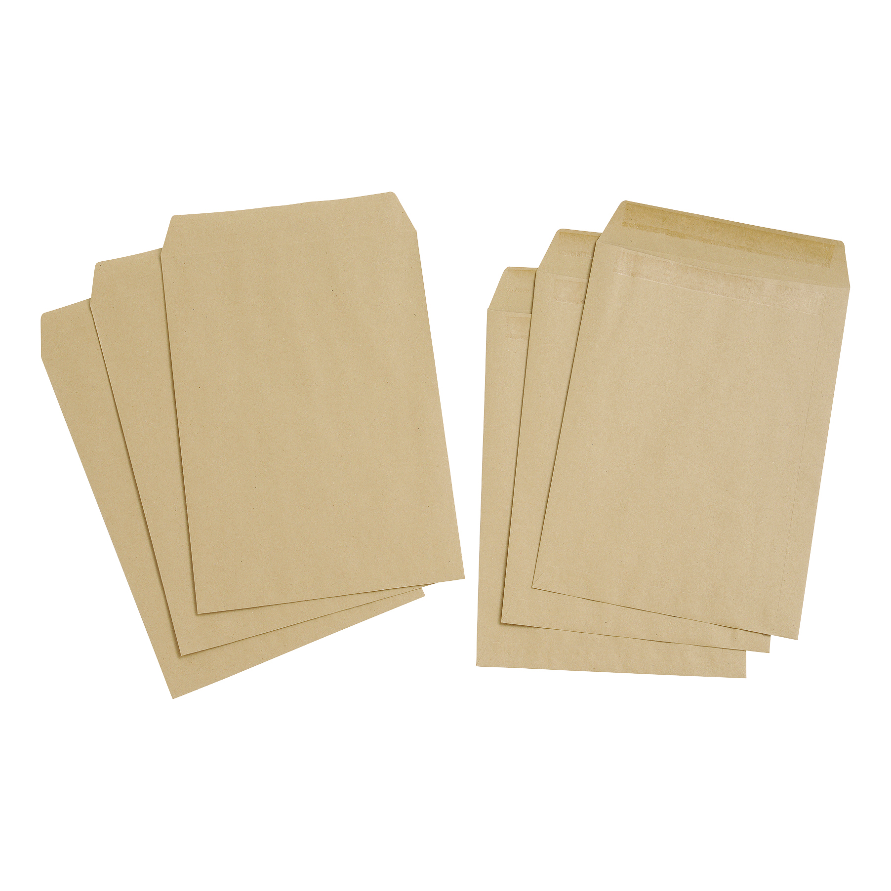 5 Star Value Envelope C4 Pocket Self Seal 80gsm Plain Manilla Pack 250