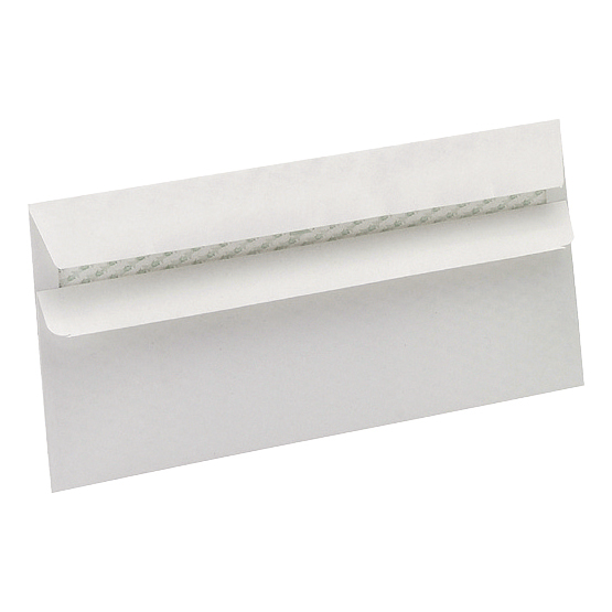 5 Star Eco Envelopes Wallet Recycled Self Seal 90gsm DL 220x110mm White [Pack 500]