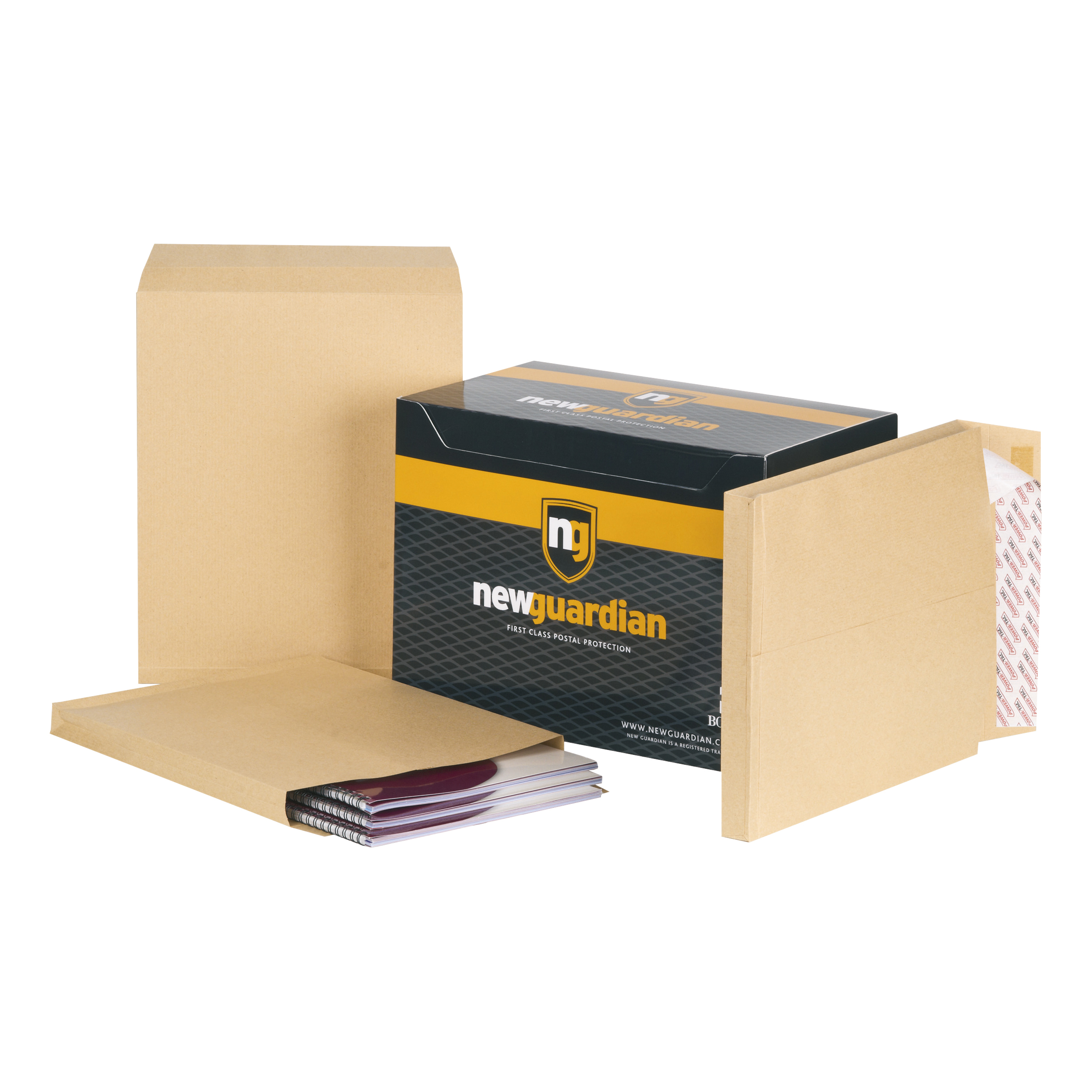 New Guardian Envelopes FSC Hvyweight Peel & Seal Gusset 130gsm 305x250x25mm Manilla Ref B27166 Pack 100