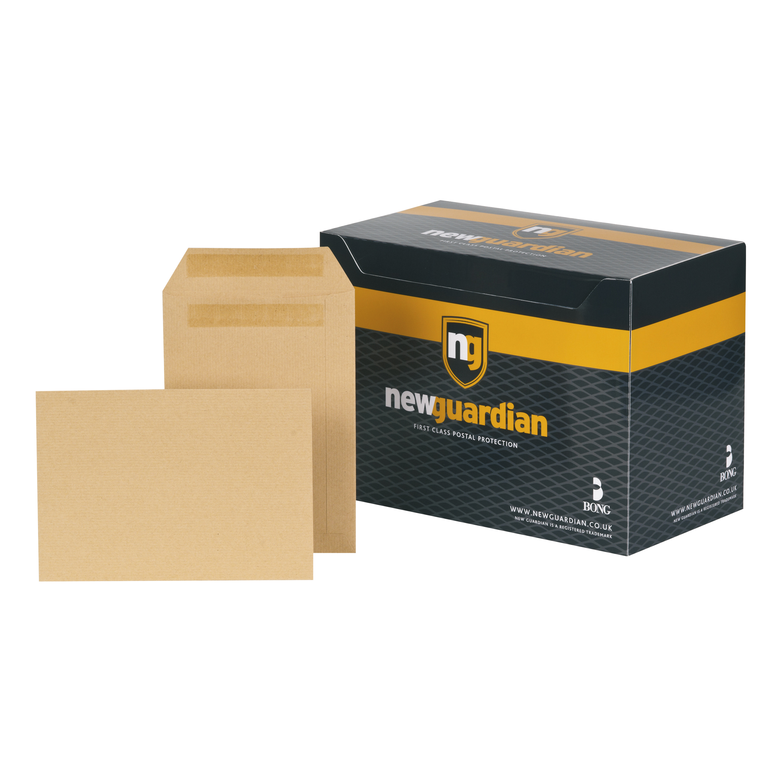 New Guardian Envelopes FSC Pocket Self Seal Heavyweight 130gsm C5 229x162mm Manilla Ref D26103 Pack 250
