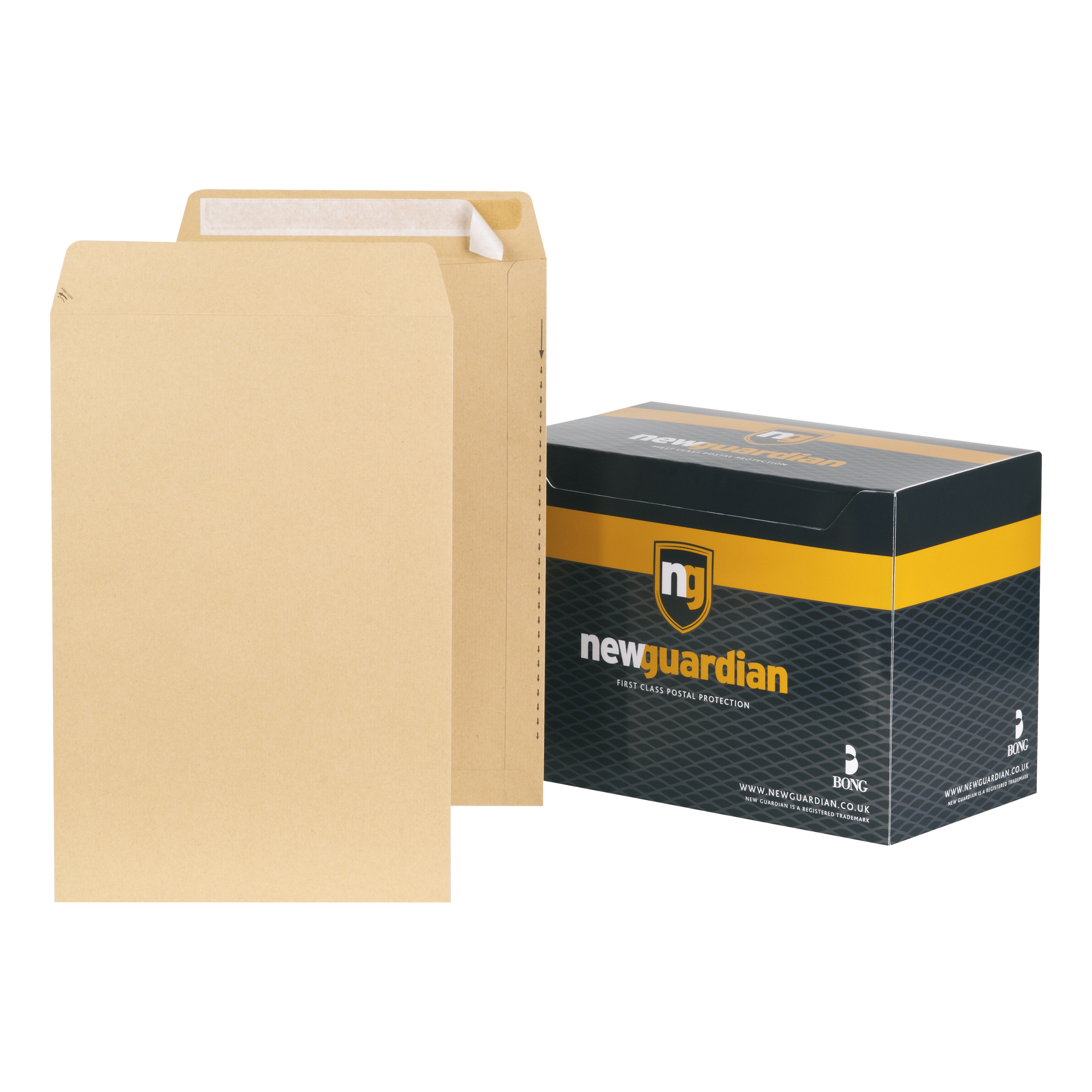 New Guardian Envelopes Heavyweight 381x254mm Pocket Peel and Seal 130gsm Manilla Ref  [Pack 125]