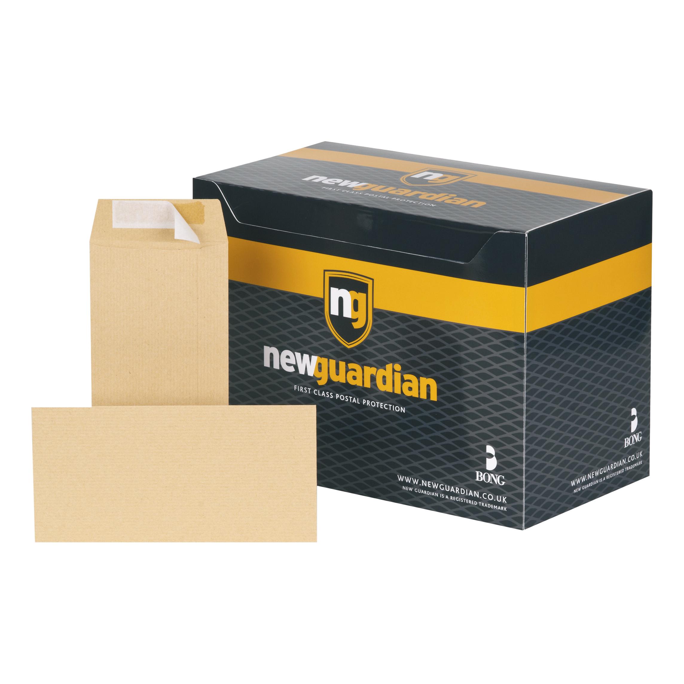 New Guardian Envelopes Heavyweight Pocket Peel & Seal 130gsm DL 220x110mm Manilla Ref E26503 Pack 500