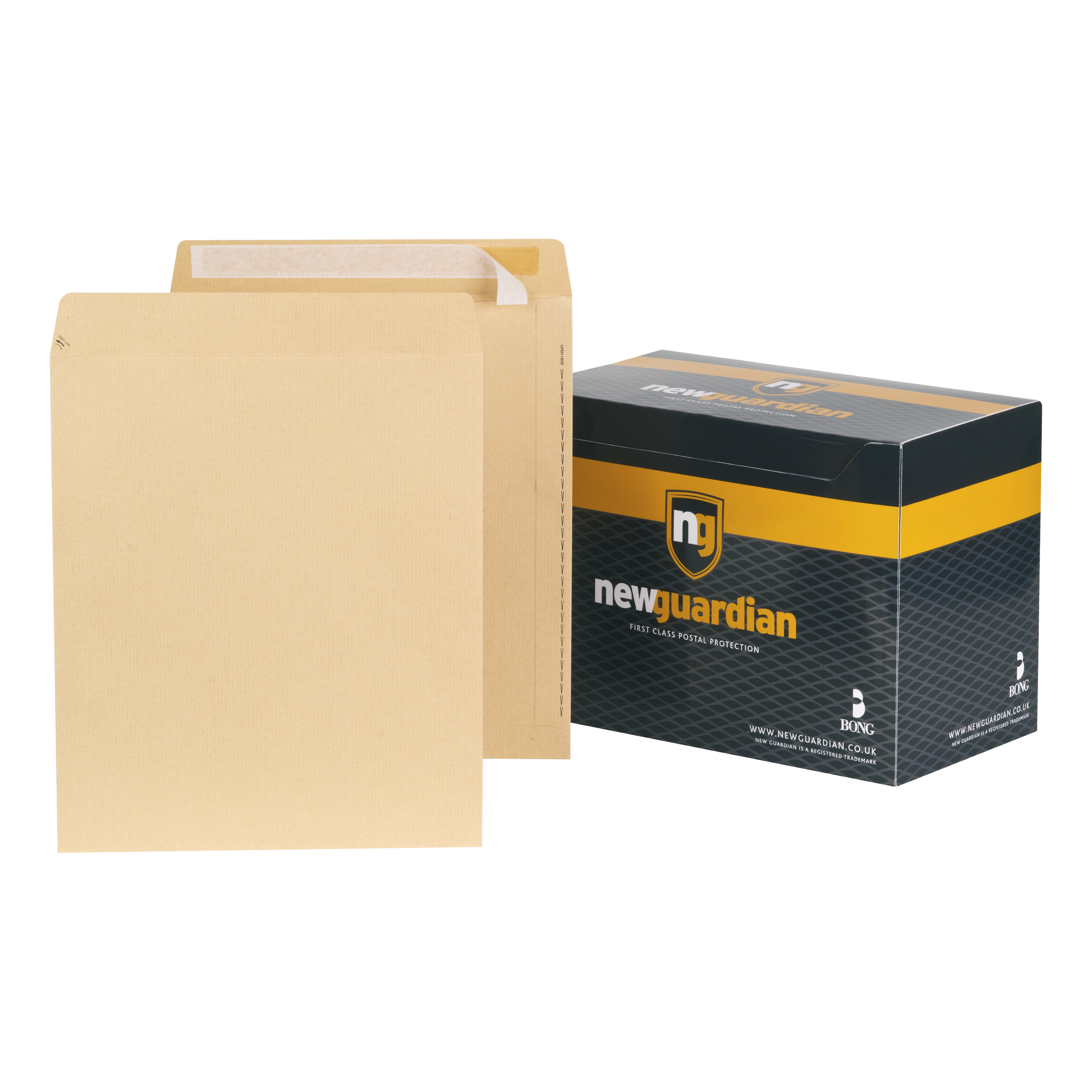 New Guardian Envelopes FSC Pocket Peel & Seal Heavyweight 130gsm 330x279mm Manilla Ref H23213 Pack 125