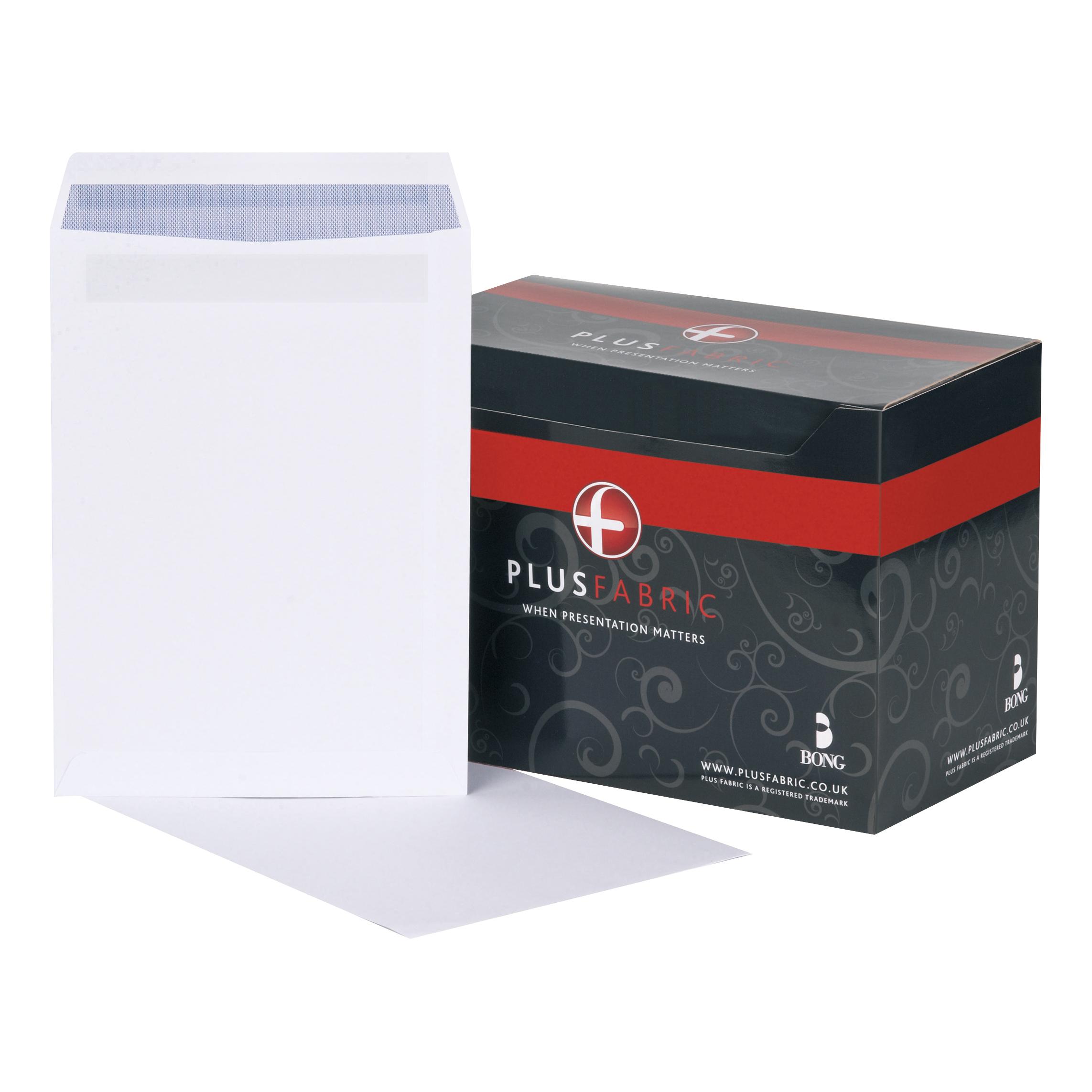 Plus Fabric Envelopes C4 Pocket Self Seal 120gsm White Ref L26370 Pack 250