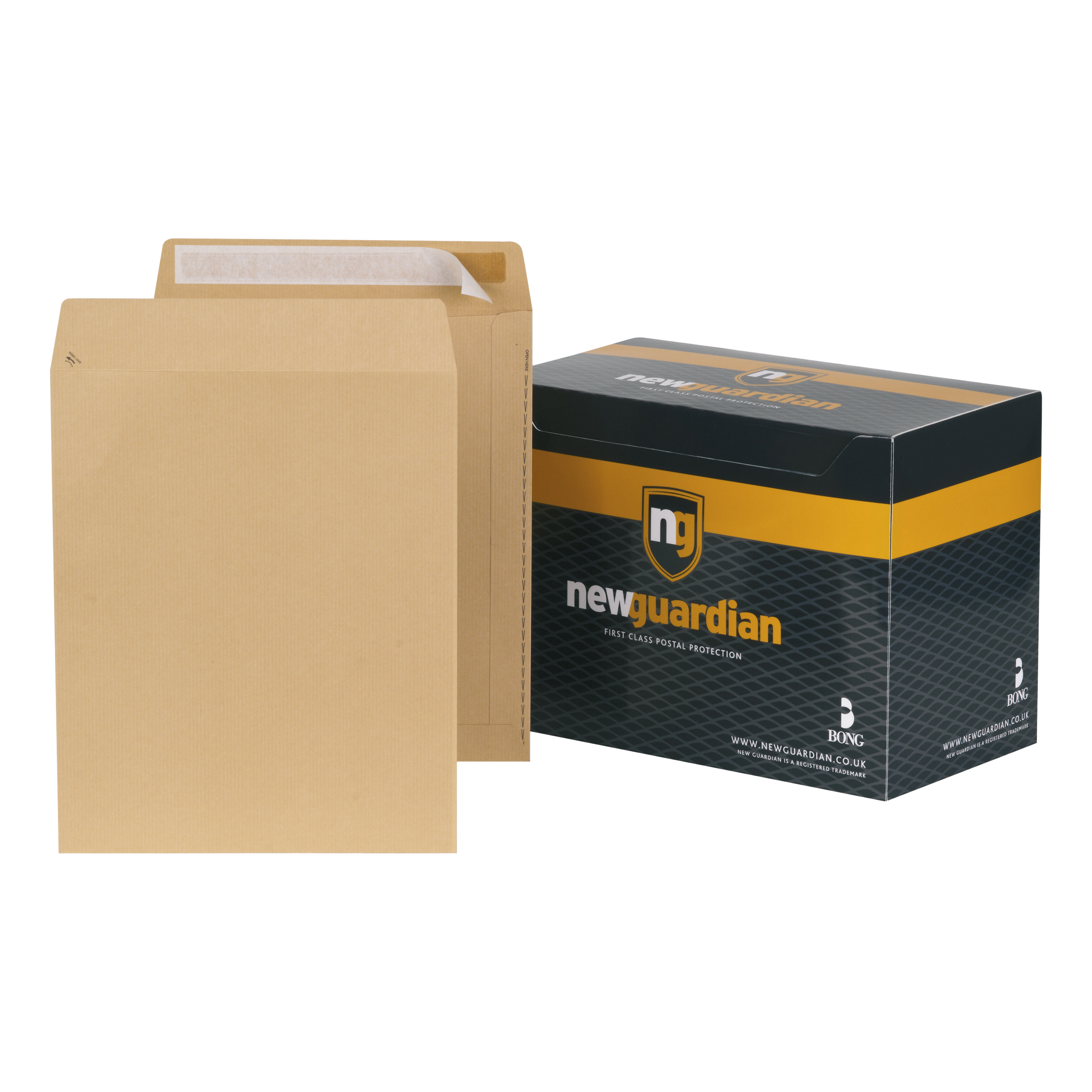 New Guardian Envelopes Heavyweight 305x250mm Pocket Peel and Seal 130gsm Manilla Ref L27103 [Pack 250]