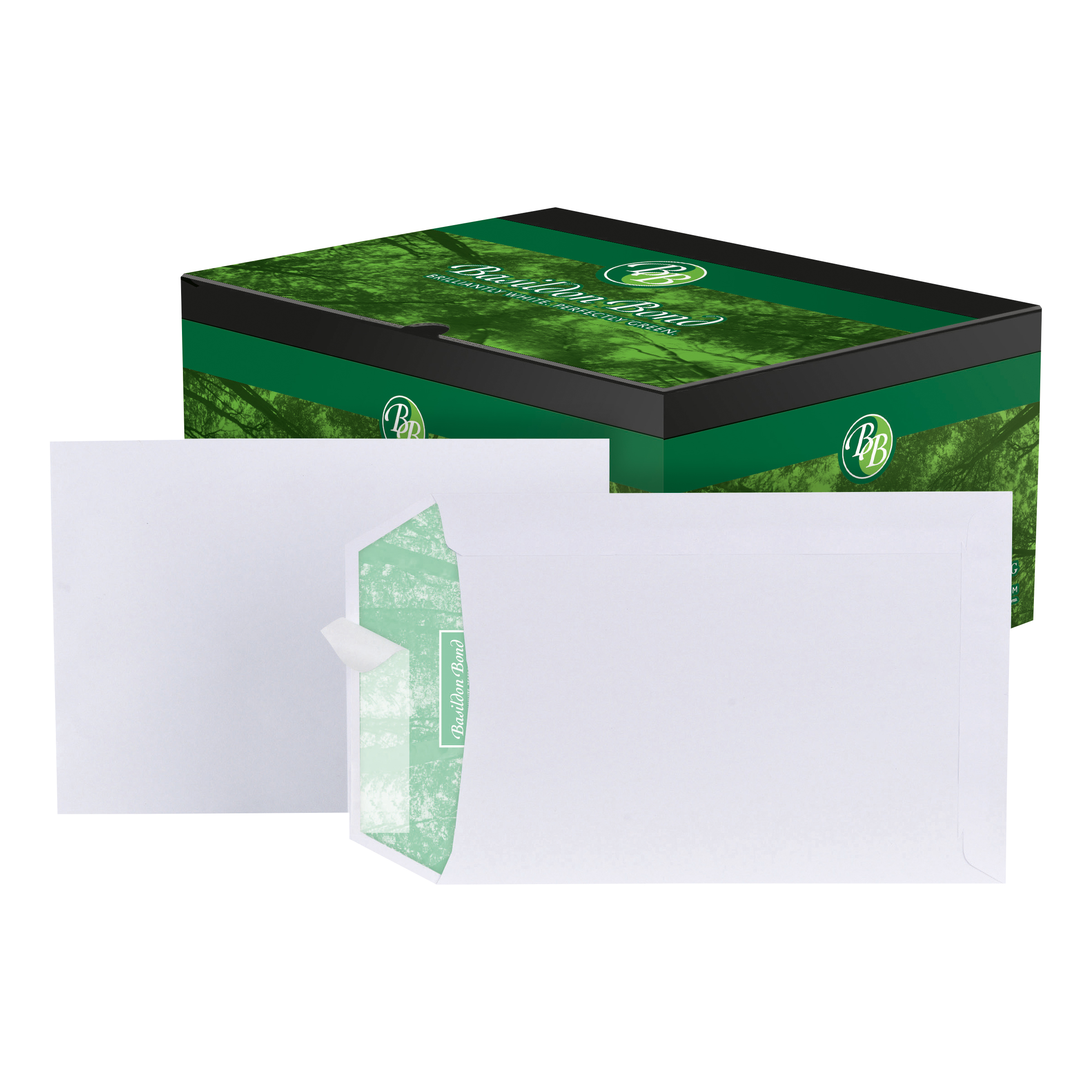 Standard envelopes Basildon Bond Envelopes FSC Recycled Pocket Peel & Seal 120gm C5 White Ref L80118 Pack 500