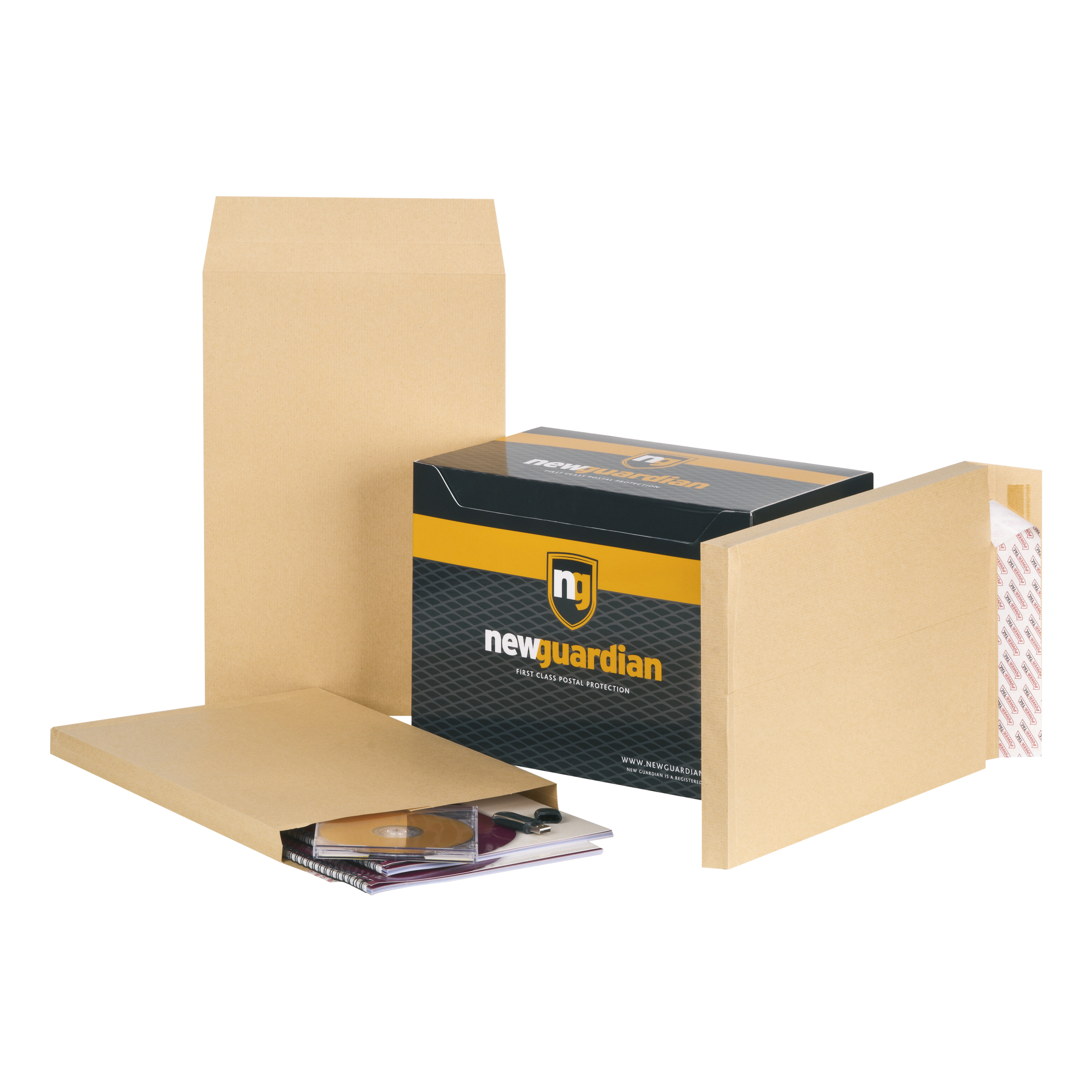New Guardian Envelopes FSC Hvyweight Peel & Seal Gusset 130gsm 381x254x25mm Manilla Ref M27466 Pack 100