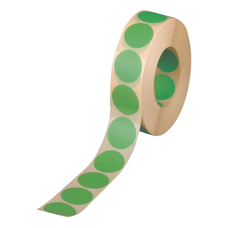Coloured Labels Avery Labels in Dispenser on Roll Round Diam.19mm Green Ref 24-507 1120 Labels