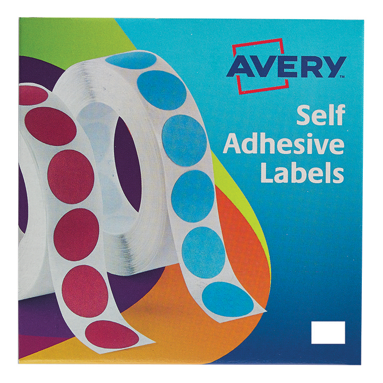 Coloured Labels Avery Labels in Dispenser on Roll Rectangular 18x12mm White Ref 24-415 2000 Labels
