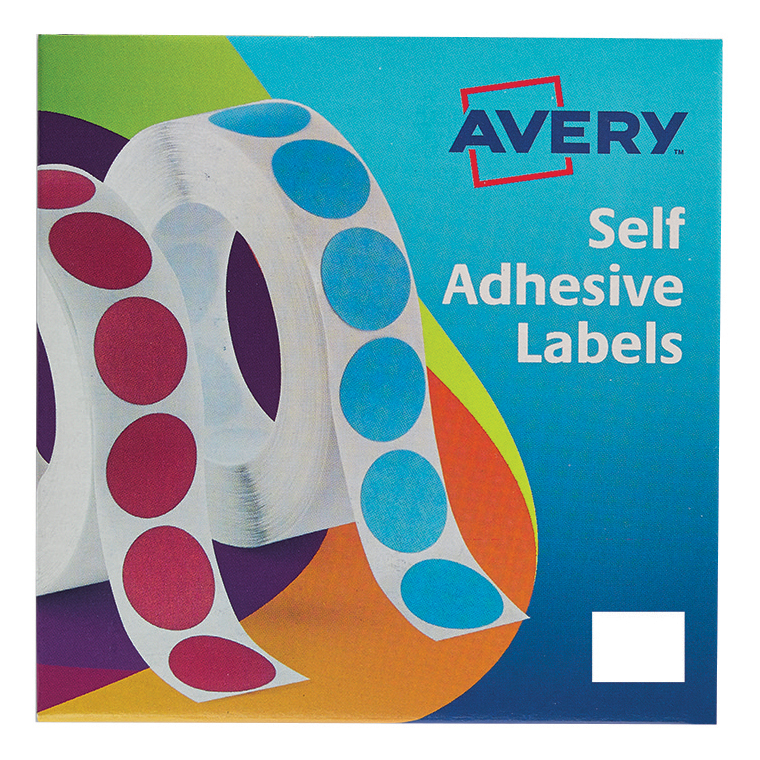 Coloured Labels Avery Label in Dispenser on Roll Rectangular 25x19mm White Ref 24-421 1200 Labels