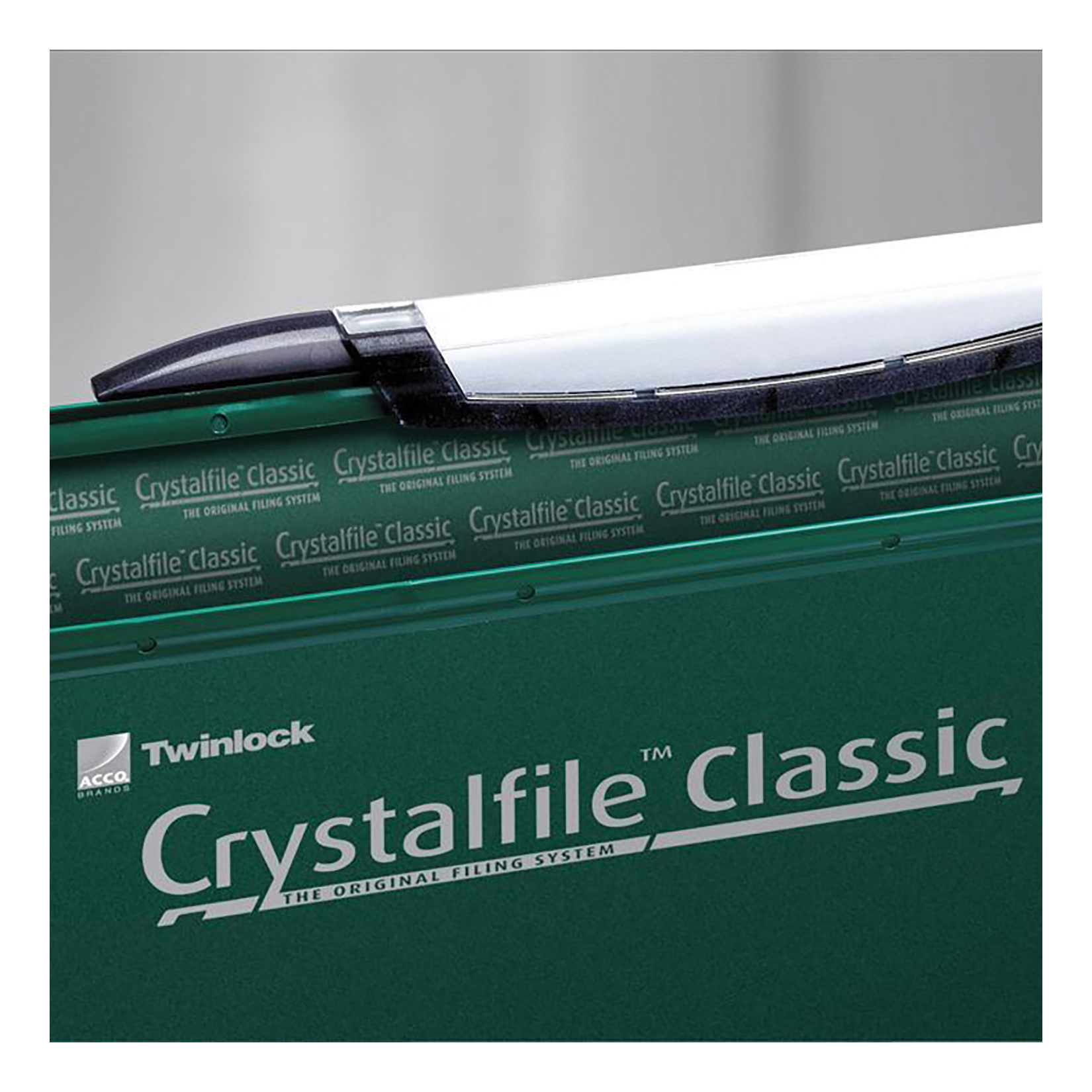 Rexel Crystalfile Classic Linking Suspension File 15mm V-base 230gsm Foolscap Green Ref 3000030 [Pack 50]
