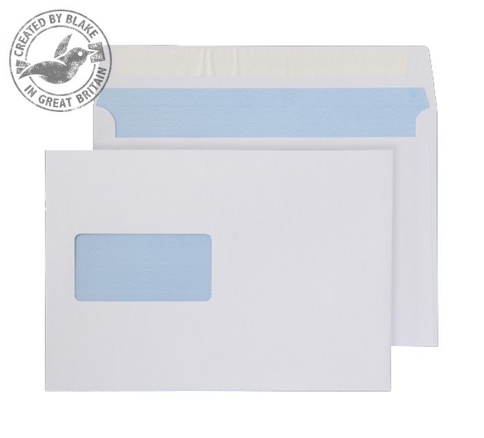 Image for Purely Everyday Wallet P&S Window White 100gsm C5 162x229mm Ref 23708 [Pack 500] 3 to 5 Day Leadtime