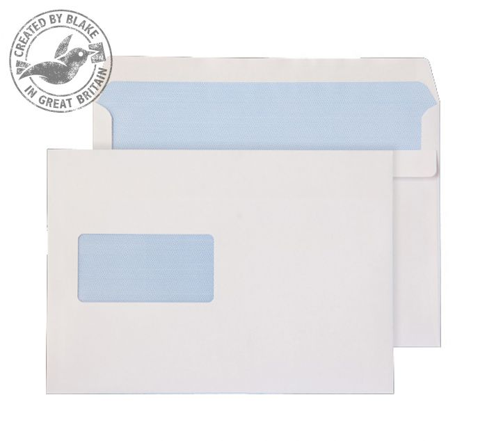 Image for Purely Everyday Wallet Self Seal Window White 100gsm C5 162x229 Ref 22708 Pk 500 3 to 5 Day Leadtime
