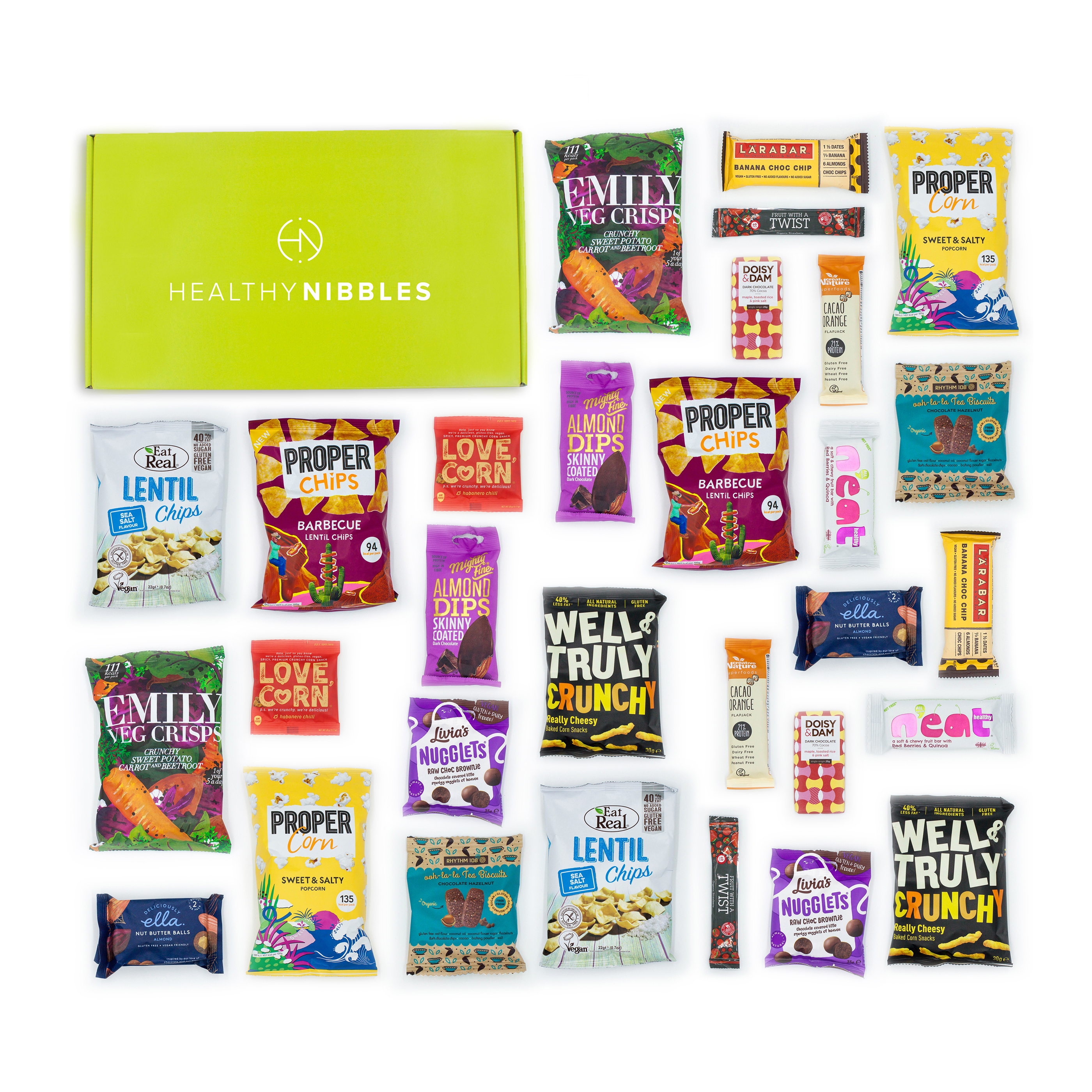 Limitless Healthy Nibbles Gluten Free 30 Piece Office Box Ref Gluten30 *Up to 2-3 Day Leadtime*