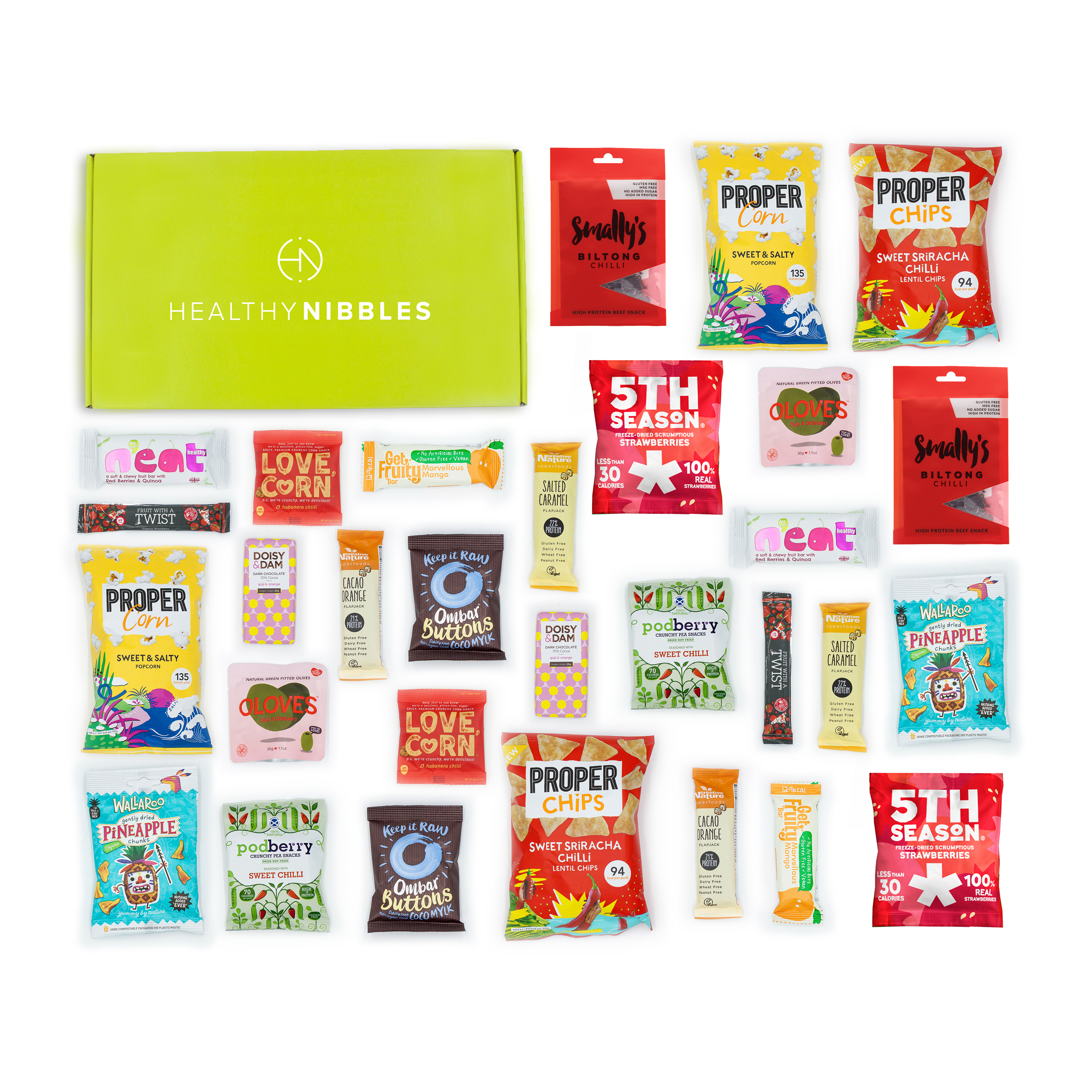 Natural sugars or sweetening products Healthy Nibbles Nut Free Snack 30 Piece Office Box Ref NutFree30 *Up to 2-3 Day Leadtime*