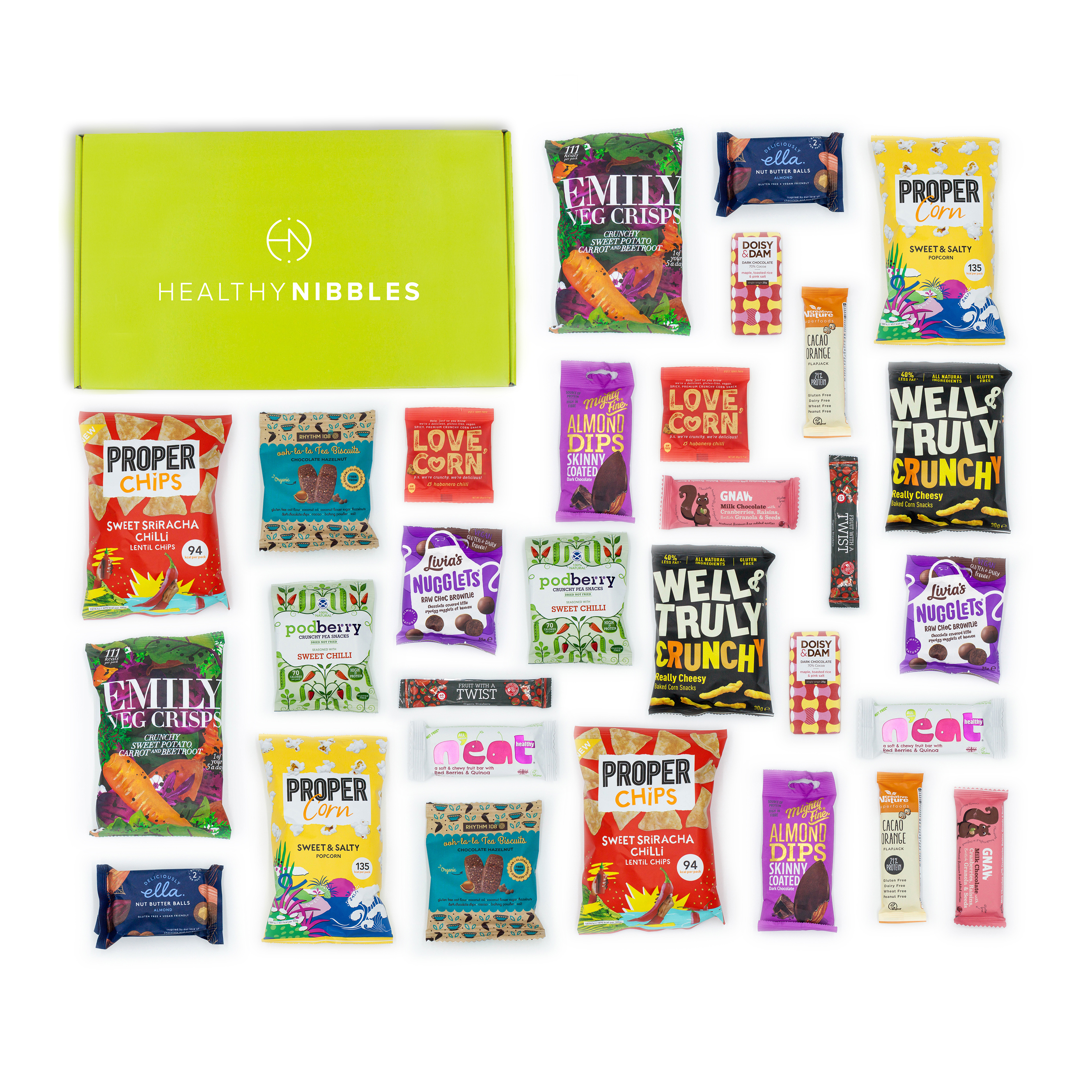 Limitless Healthy Nibbles 30 Piece Office Box Ref Health30 *Up to 2-3 Day Leadtime*