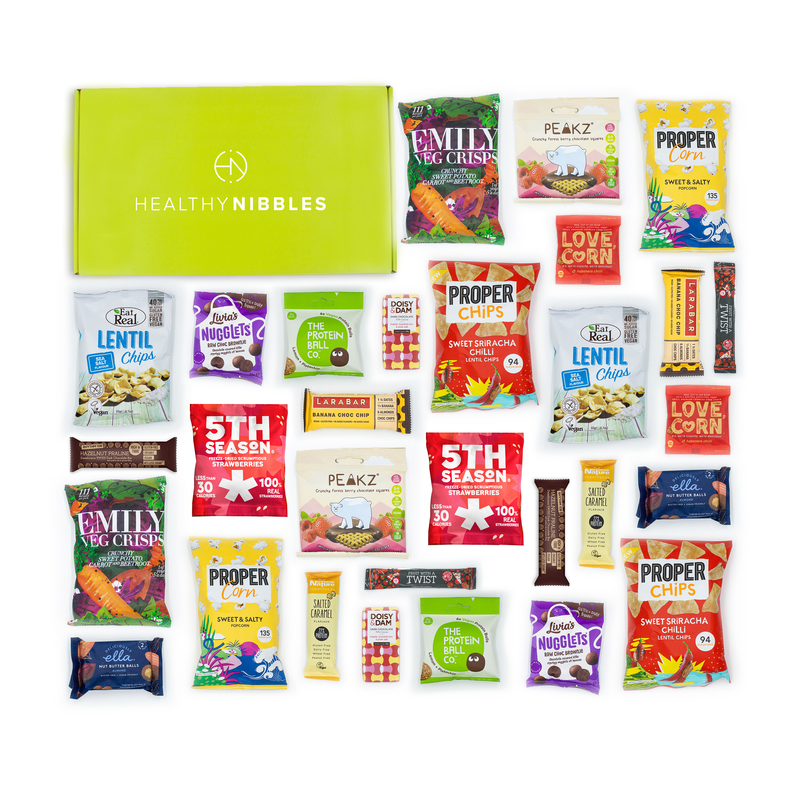 Natural sugars or sweetening products Healthy Nibbles Vegan Snack 60 Piece Office Box Ref Vegan60 *Up to 2-3 Day Leadtime*