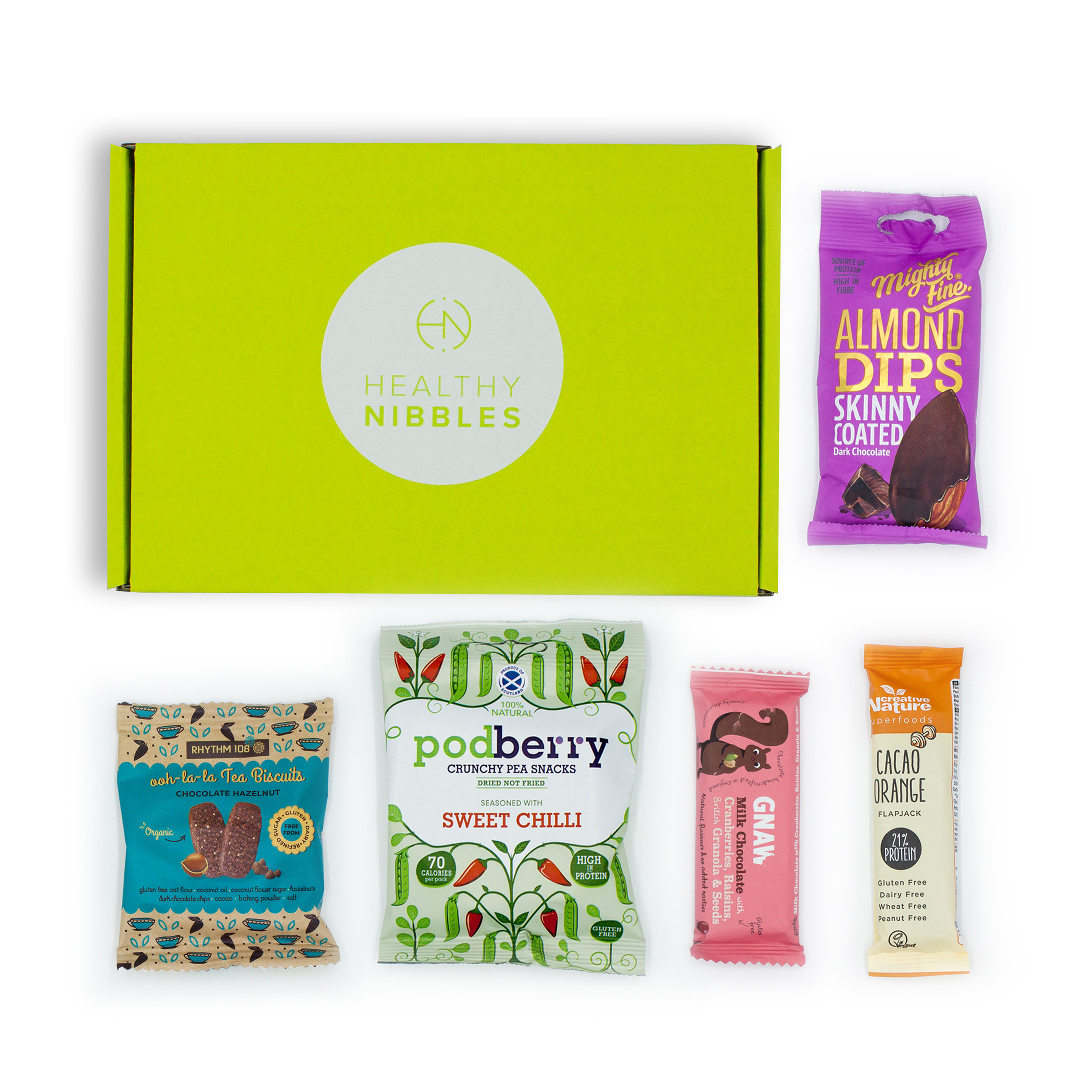 Natural sugars or sweetening products Healthy Nibbles 5 Piece Mini Box Ref Health5 *Up to 2-3 Day Leadtime*