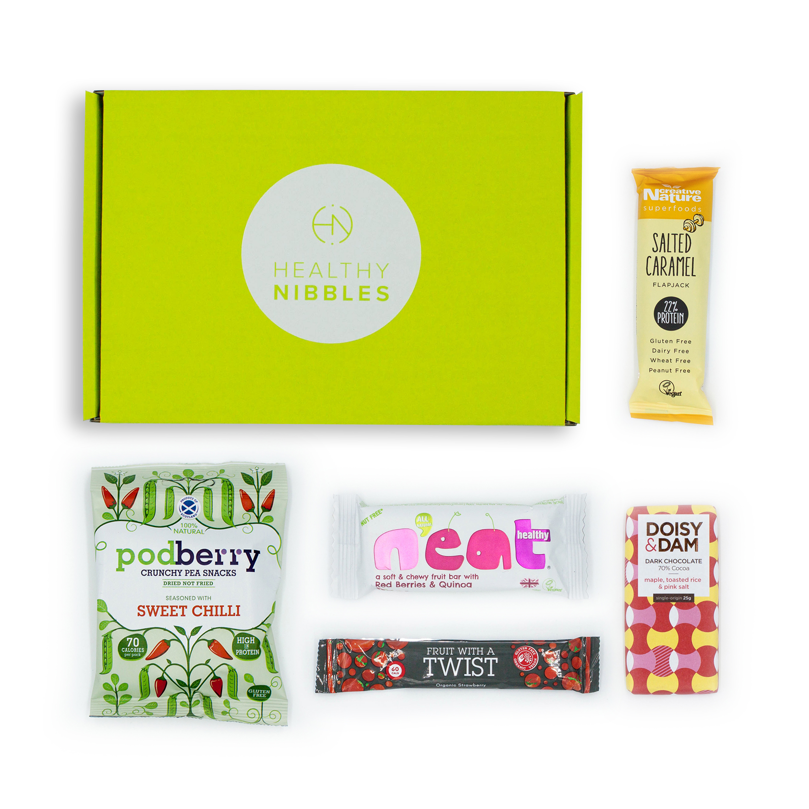 Natural sugars or sweetening products Healthy Nibbles Nut Free Snack 5 Piece Mini Box Ref NutFree5 *Up to 2-3 Day Leadtime*