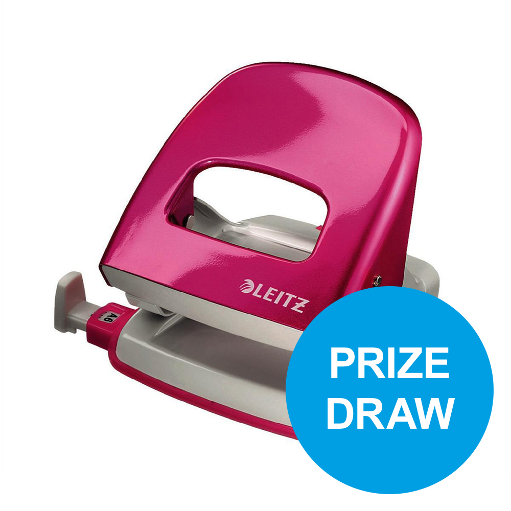 Leitz NeXXt WOW Hole Punch 3mm 30 Sheet Pink Ref 50081023L [REDEMPTION] Oct-Dec19