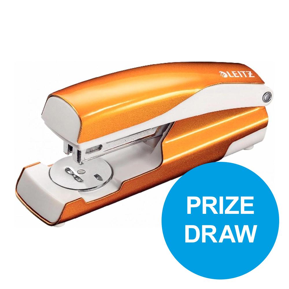 Leitz NeXXt WOW Stapler 3mm 30 Sheet Orange Ref 55021044L REDEMPTION Oct-Dec19