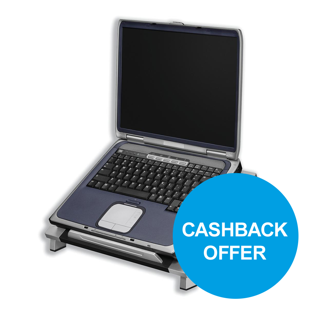 Fellowes Office Suites Laptop Riser Adjustable Tilt for Up to 5kg Ref 8032001 REDEMPTION Oct-Dec19