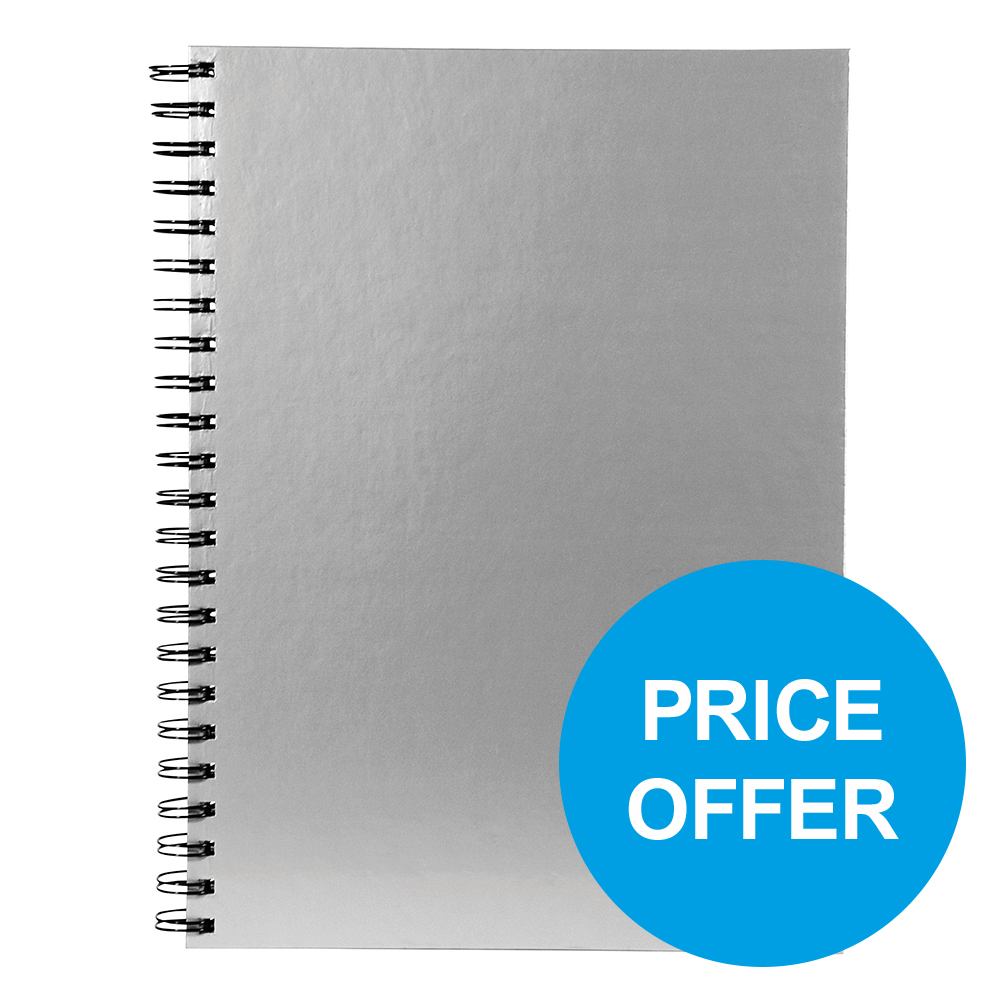 Pukka Wbnd Manuscript Bk A4 90gsm Ruled Margin Perfd Silver Ref WRULA4 [Pack 5][Price Offer] Oct-Dec 19