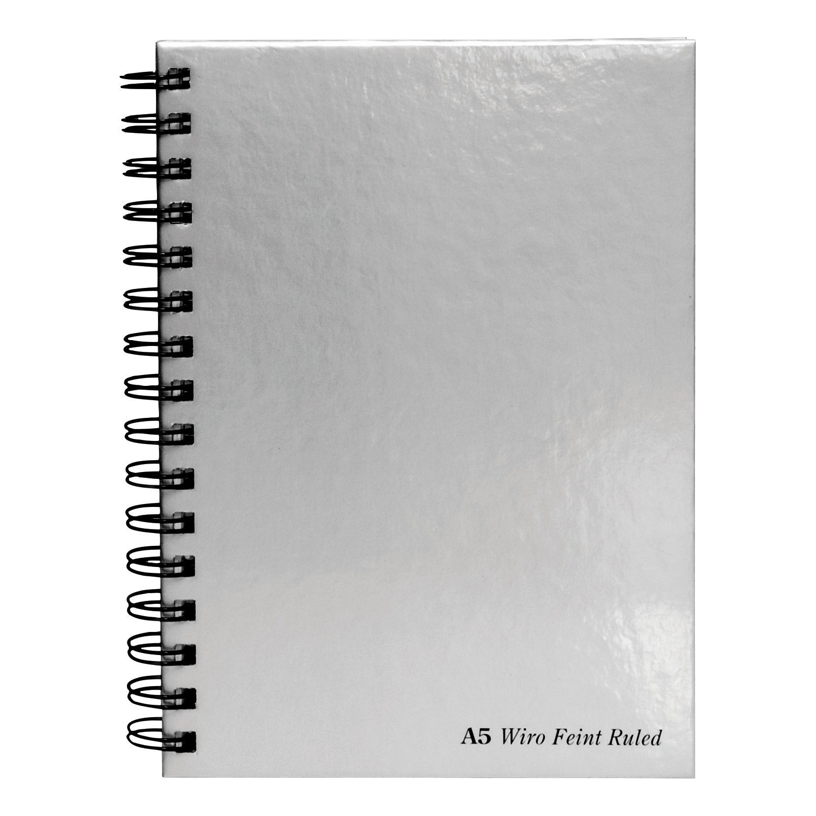 Pukka Wbnd Manuscript Book A5 90gsm Ruled Perforated Silver Ref WRULA5 [Pack 5] [Price Offer] Oct-Dec 19