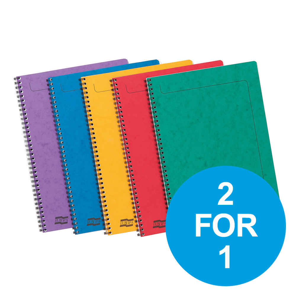 Europa Sidebound Notebook PEFC A4 Ast A Ref 4860Z [Pack 10] [2 for 1] Oct-Dec 19