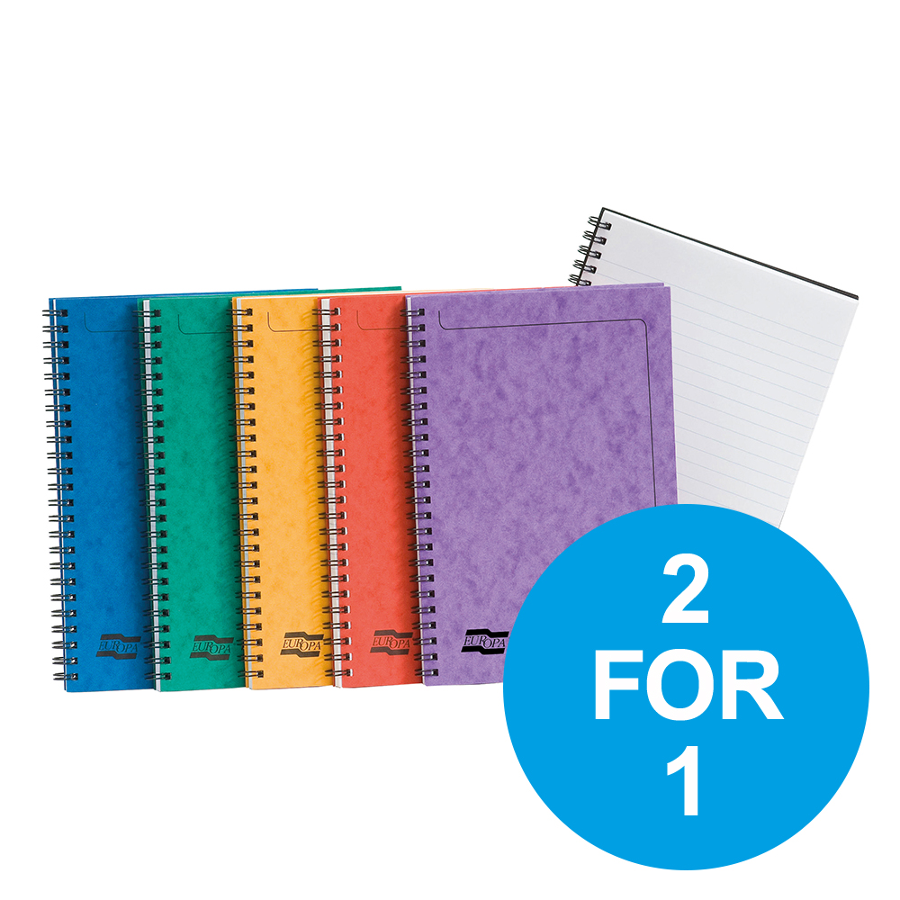 Europa Sidebound Notebook PEFC A5 Ast A Ref 4850Z [Pack 10] [2 for 1] Oct-Dec 19