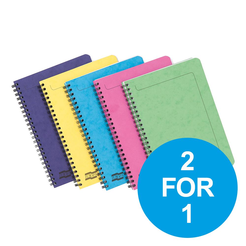 Europa Sidebound Notebook PEFC A5 Ast C Ref 3155Z Pack 10 2 for 1 Oct-Dec 19