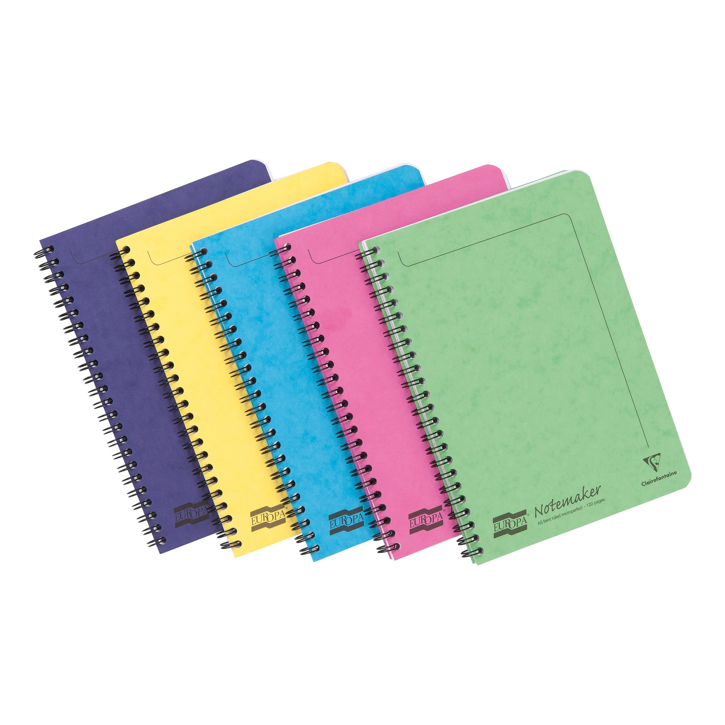 Europa Sidebound Notebook PEFC A5 Ast C Ref 3155Z [Pack 10] [2 for 1] Oct-Dec 19