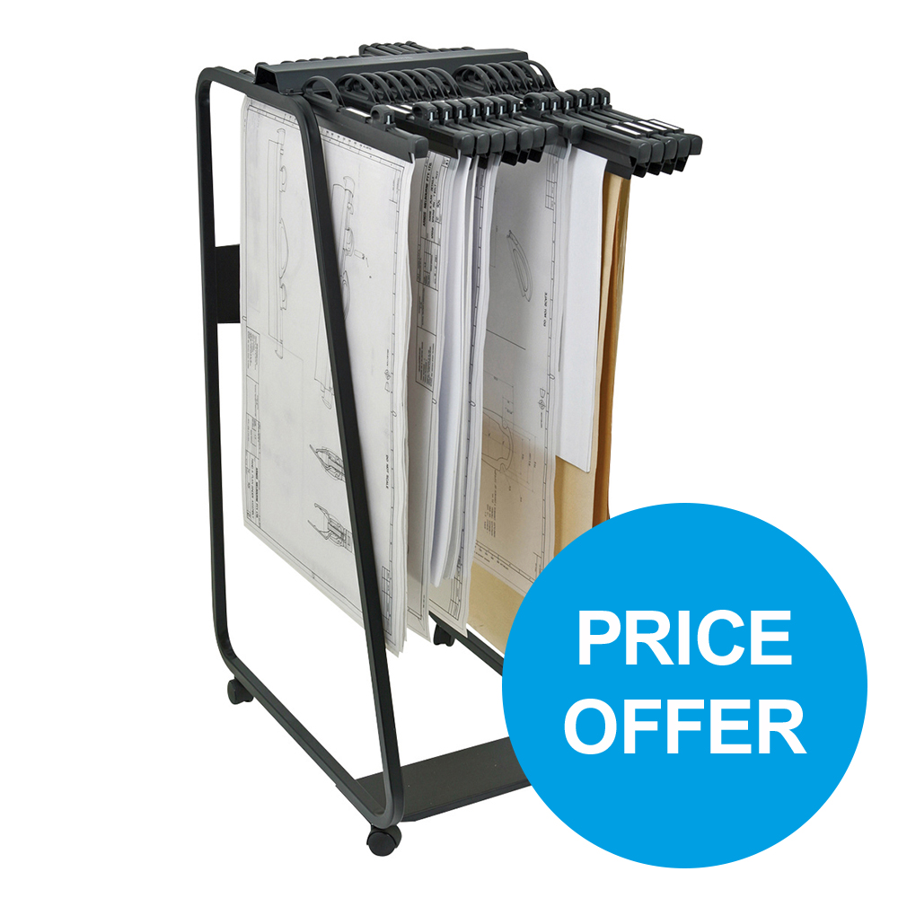 Arnos Hang-A-Plan Gen Frnt Ld Bndr A0 W950mm Slv D102A x10 & Trolley D060 [Price Offer] Oct-Dec 2019
