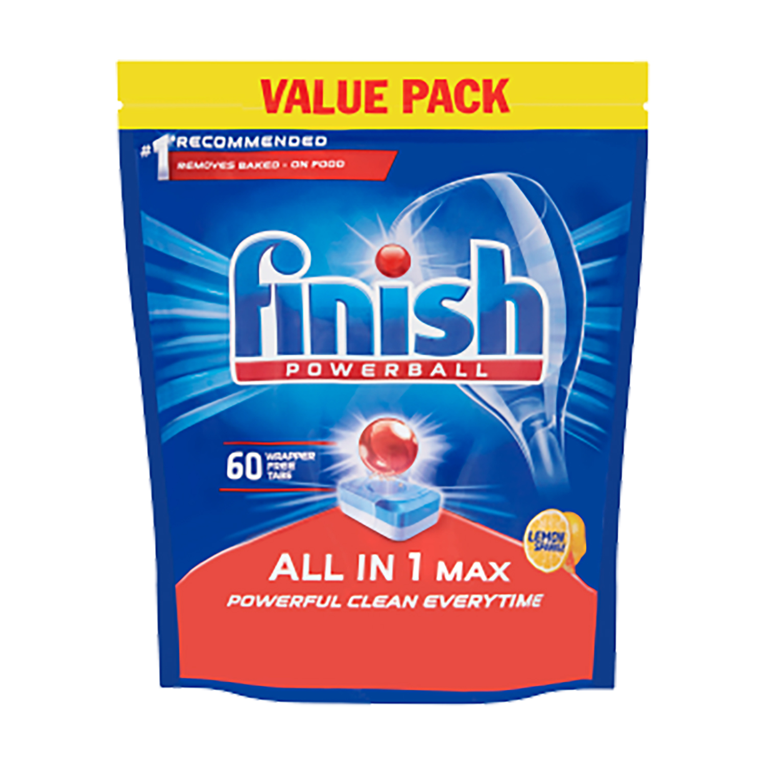 Finish Dishwasher Powerball Tablets All-in-1 Ref Lemon RB797723 [Pack 60] [2 for 1] Oct-Dec 2019