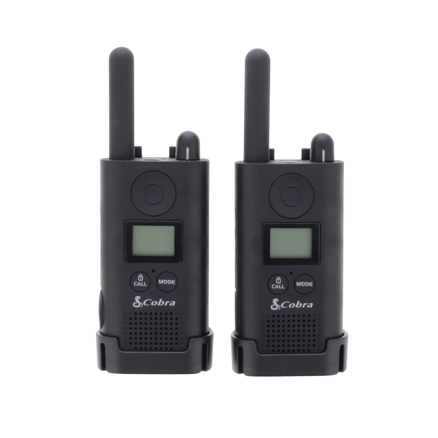 Cobra PU 500 Pro Business Two Way Radios 16 Preset Channels Range 8km Ref PU500B+SV-01 Pair
