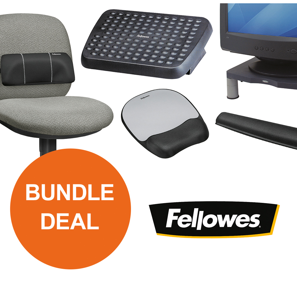 Back support rests Fellowes Ergonomic Bundle 1 [Bundle Offer] Oct - Dec 19