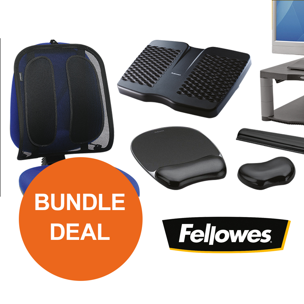 Back support rests Fellowes Ergonomic Bundle 2 [Bundle Offer] Oct - Dec 19